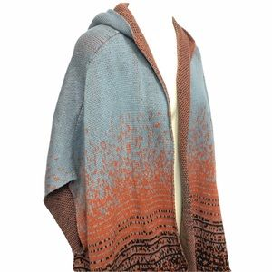 Sonoma Open Front Poncho with Hood
